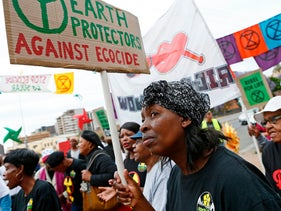 A demonstration against climate change in South Africa, October 2019.