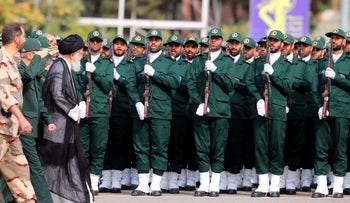 Iran's Supreme Leader Ayatollah Ali Khamenei attends a graduation ceremony for student officers and guard trainees in Tehran, Iran September 13, 2019.