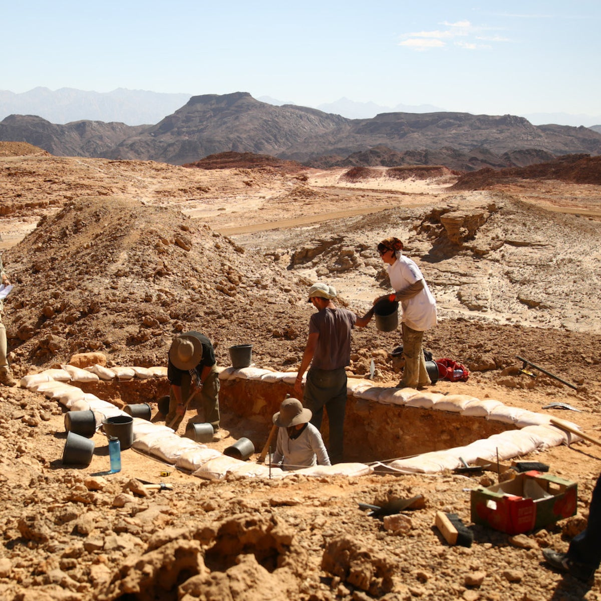 An excavation in the Timna Valley.