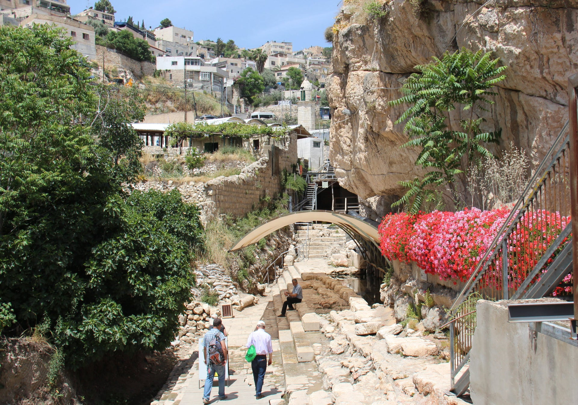 The Siloam pool, where the stepped-stone street begins its climb toward the Temple Mount