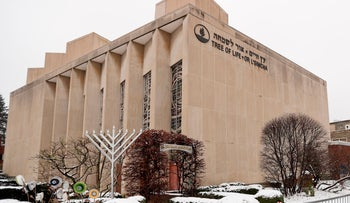 The Tree of Life Synagogue in Pittsburgh's Squirrel Hill neighborhood, February 11, 2019.