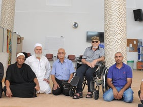 A meeting of sheikhs in Majdal Krum to discuss combating violence in the Arab community, October 17, 2019.