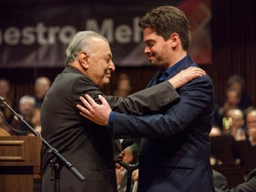 Zubin Mehta at his farewell concert, October 21, 2019.