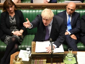 U.K. Prime Minister Boris Johnson at the House of Commons in London, Britain October 22, 2019.