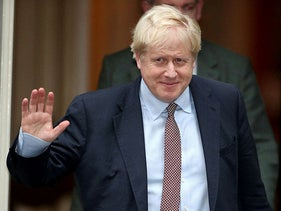 British Prime Minister Boris Johnson is seen outside Downing Street in London, Britain October 24, 2019.