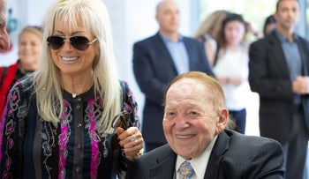 Sheldon and Miriam Adelson at opening day of the medical school that bears their name.
