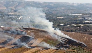 Weapons fire in the area of the Lebanese border, Sept. 2019.