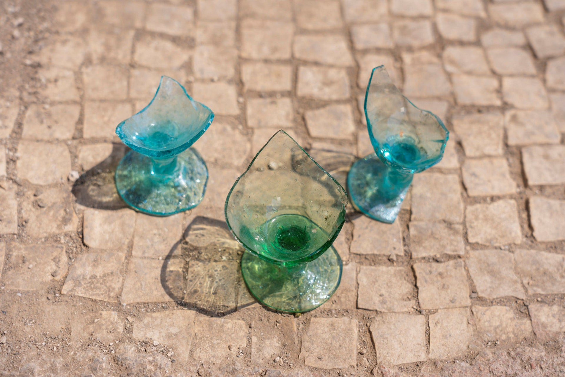 Green glassware made in ancient Usha