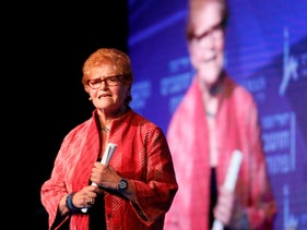 Deborah Lipstadt at the Judaism, Israel and Diaspora Conference, Jerusalem, October 30, 2019.