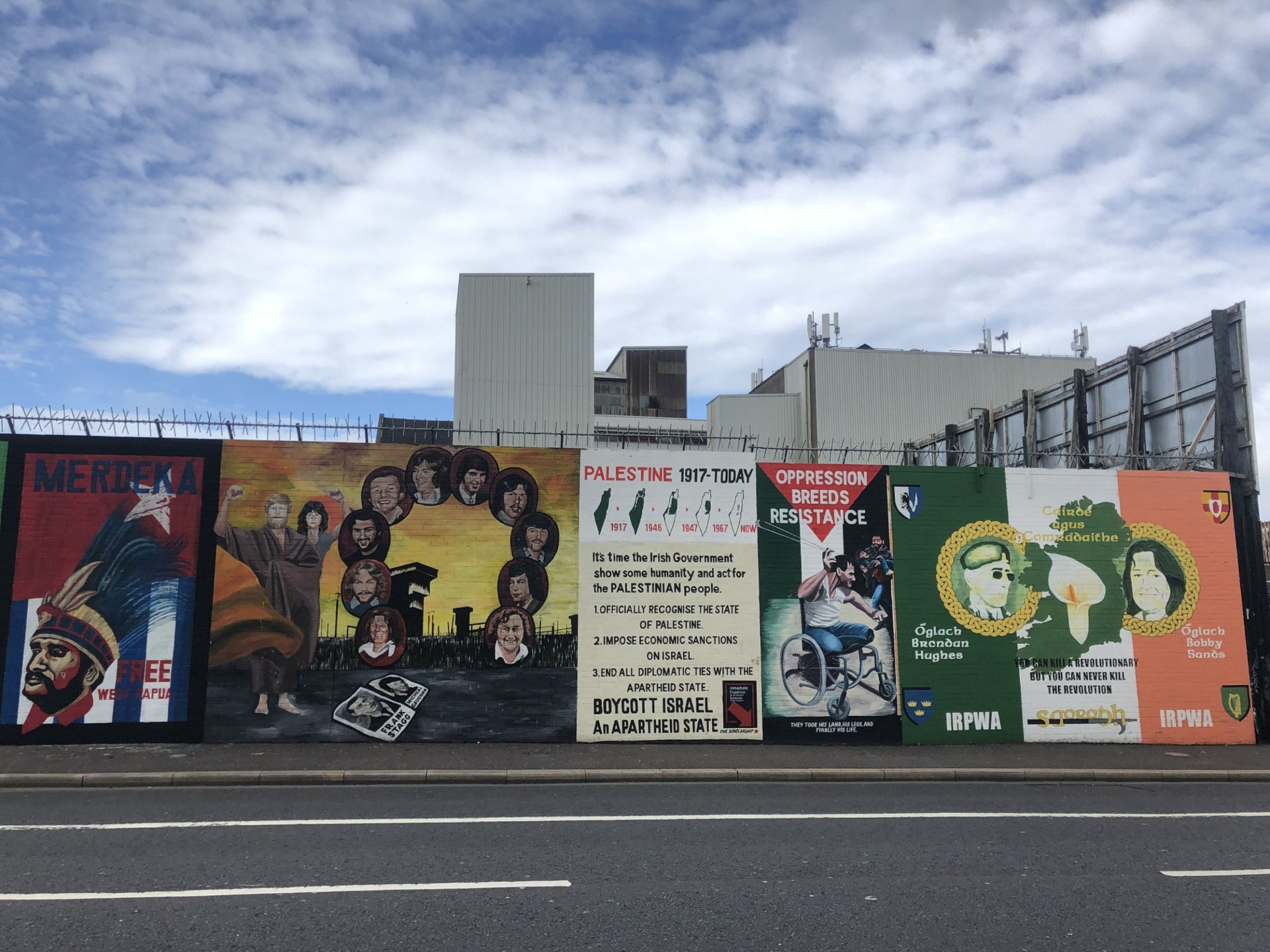 "The ""International Wall"" on the Republican Falls Road, West Belfast."