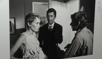 """A movie still from """"Rosemary's Baby"""" signed by guests is seen at the AMPAS salute to Robert Evans at the Academy of Motion Picture Arts and Sciences in Beverly Hills, California."""