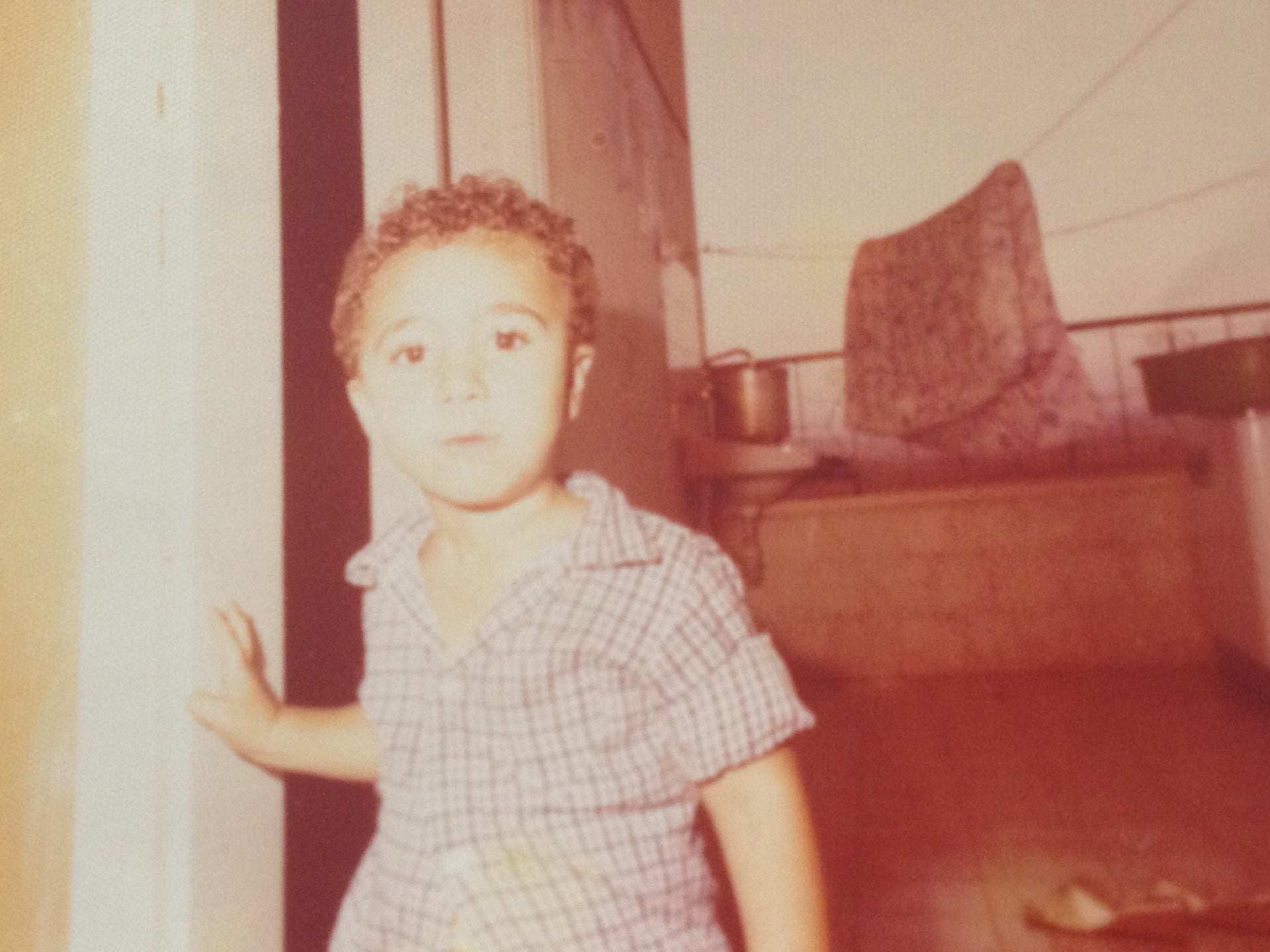 A young Ahmad Mansour in his hometown, Tira.