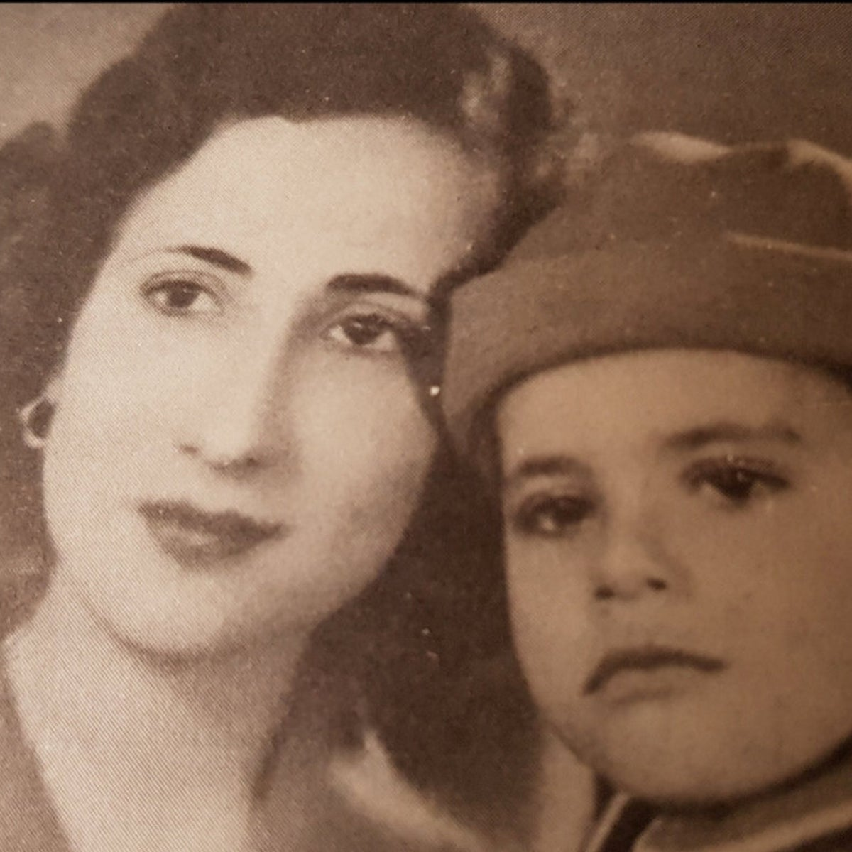 Sara Amram and her son Yisrael Amram