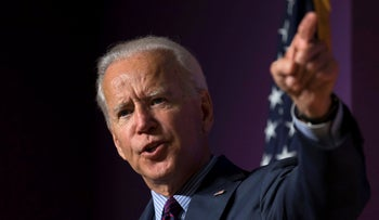 Joe Biden at the 2019 Second Step Presidential Justice Forum at Benedict College, South Carolina, October 26, 2019