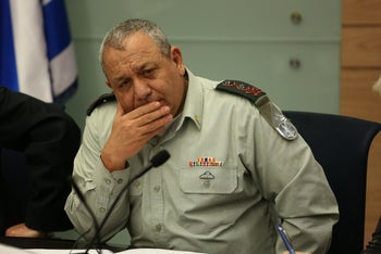 Then-IDF chief Gadi Eisenkot at the Knesset Foreign Affairs and Defense Committee, January 2019.
