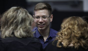 Yair Netanyahu at Likud's campaign headquarters after election exit polls were published, Tel Aviv, September 17, 2019.