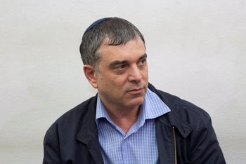 Shlomo Filber at the hearing for extending his detention, May 10, 2018.