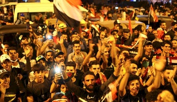 Iraqi demonstrators take part during the ongoing anti-government protests in Baghdad, Iraq November 5, 2019