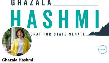 Image of Ghazala Hashmi's official Twitter account