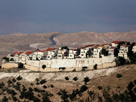 The West Bank settlement of Ma'aleh Adumim, June 18, 2019.