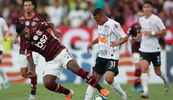 The Flamengo plays the Corinthians at Maracana Stadium in Rio de Janeiro, Brazil, November 3, 2019.