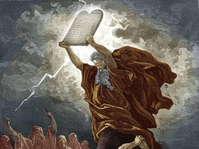 """Moses Breaking the Tablets of the Law"" (1866), by Gustave Doré."