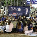 Members of different Israeli youth movements participating in dialogue circles during the memorial event organized by the Israeli Assembly for Prime Minister Yitzhak Rabin, Tel Aviv, Nov. 10, 2019