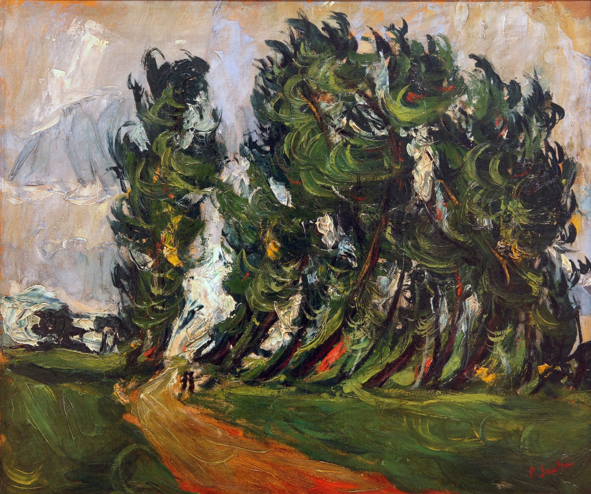 Chaïm Soutine, Path in the Forest with Two Children, first, half of the 20th century