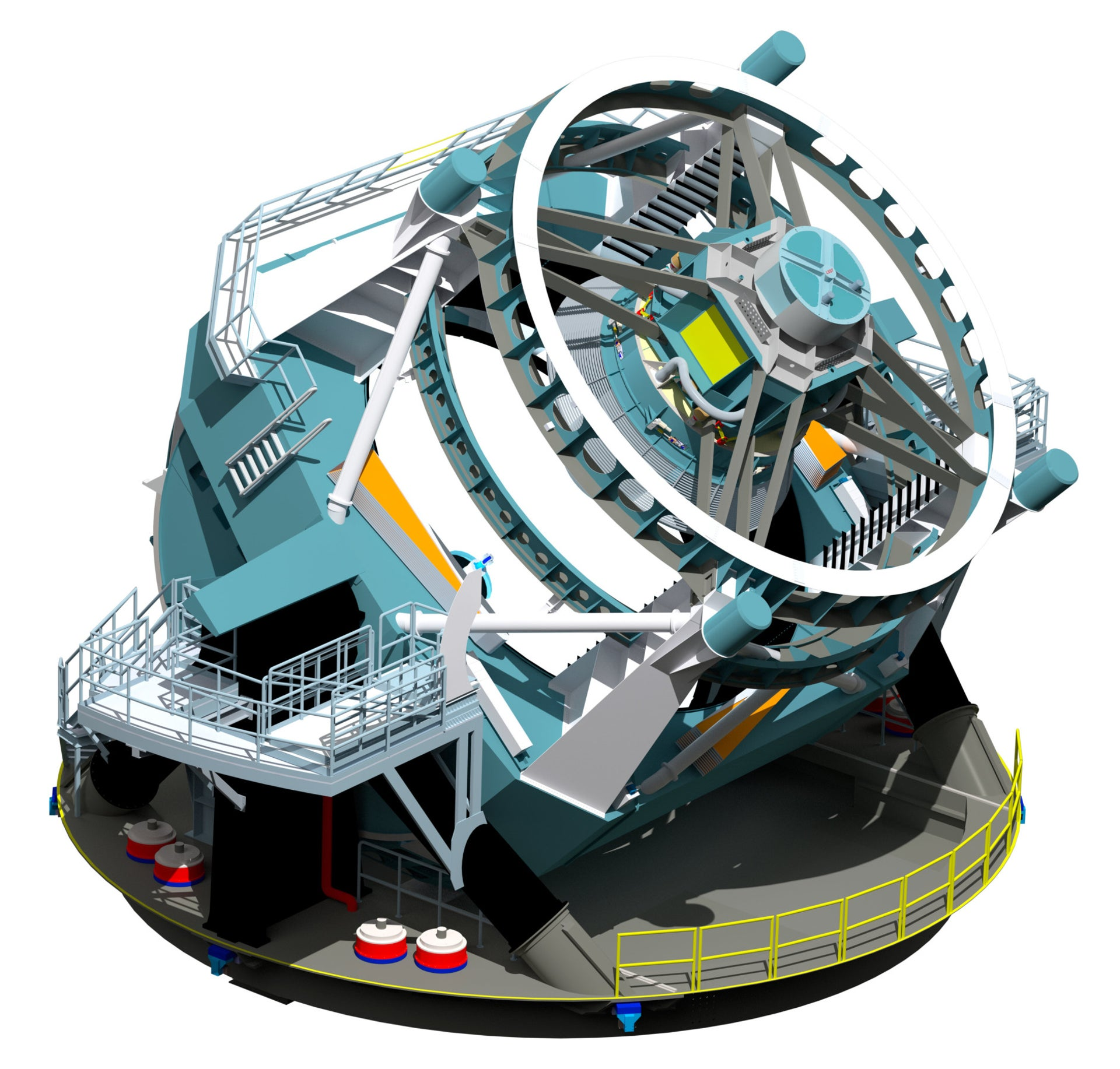 A rendering of the baseline design for the LSST telescope.