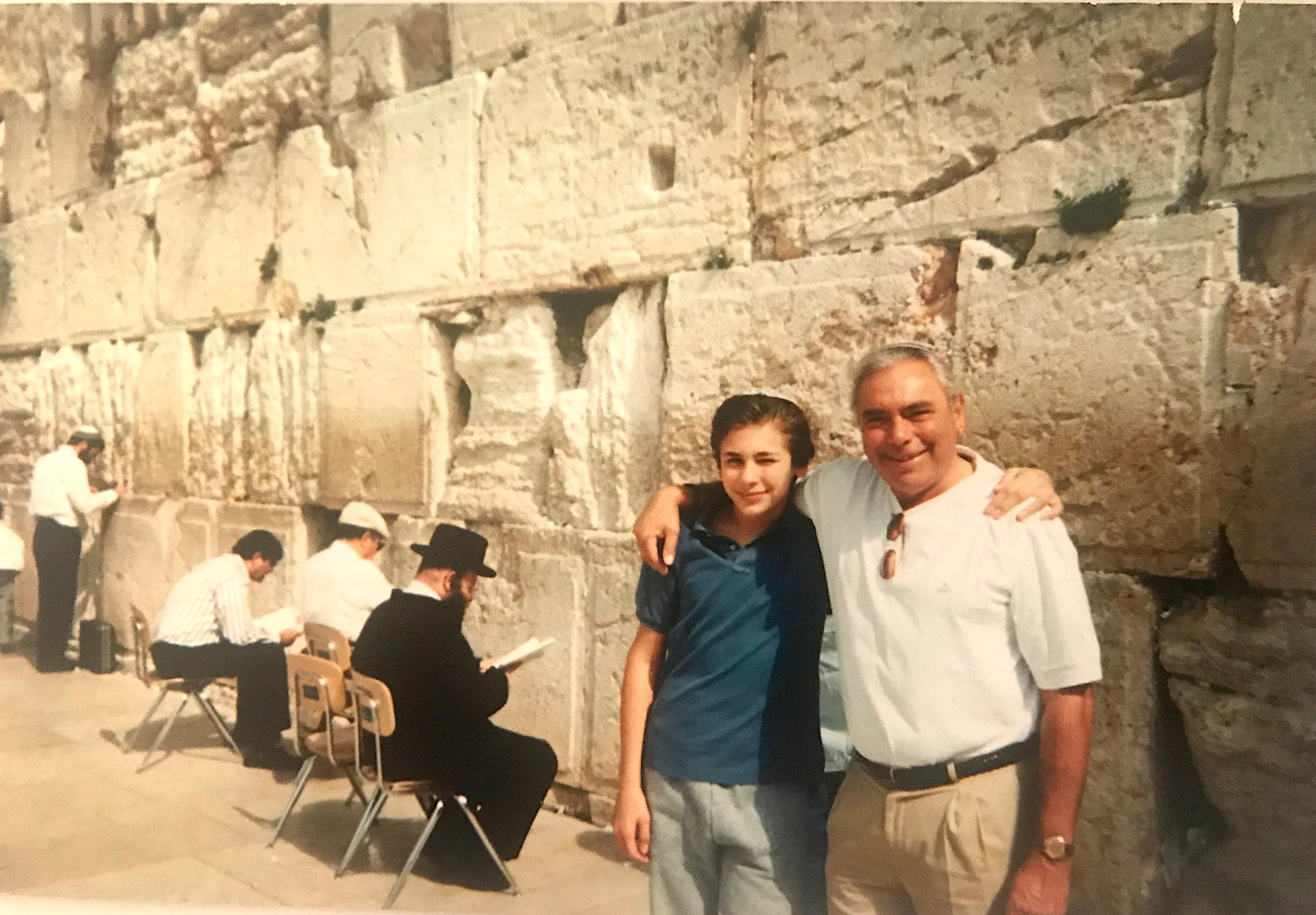 A young Greg Lansky at the Western Wall.