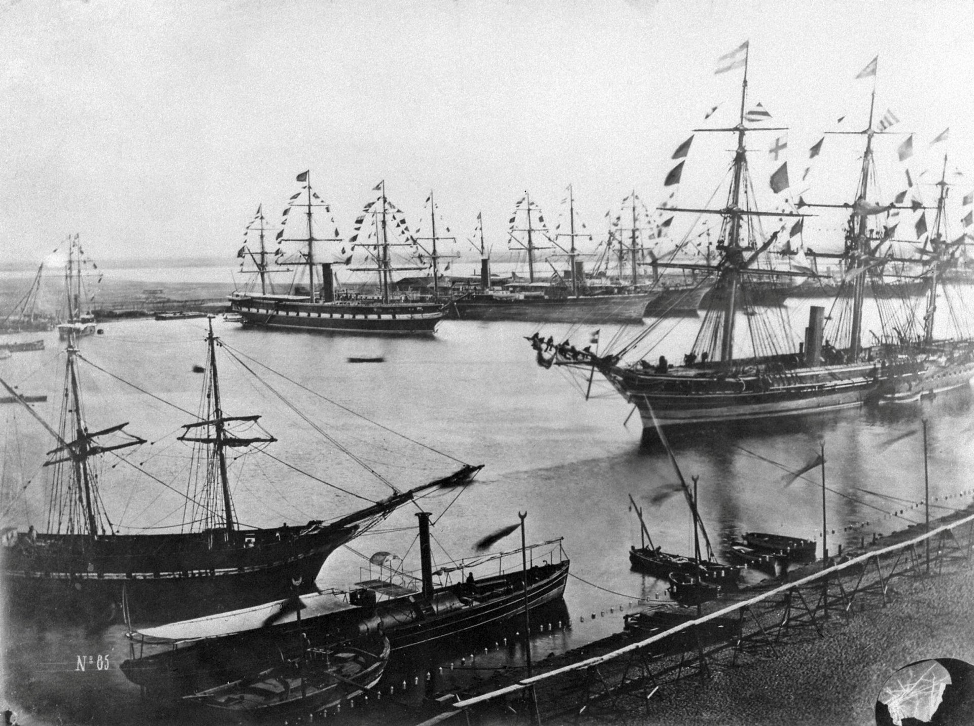 The inauguration of the Suez Canal in Egypt, November 1869.