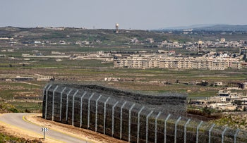 Israel's border fence with Syria, March 2019.
