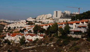 A general view of the Israeli settlement of Efrat near the Palestinian city of Bethlehem south of Jerusalem, in the occupied West Bank, November 19, 2019.
