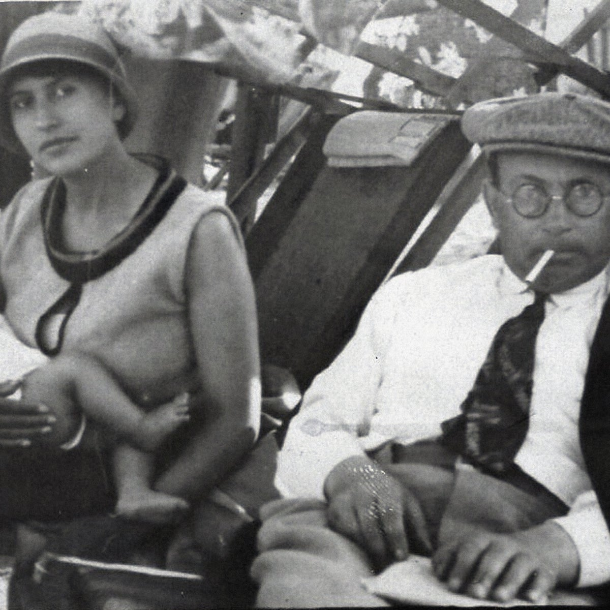 David and Ada Vogel with their daughter Tamara in Palestine, circa 1930.