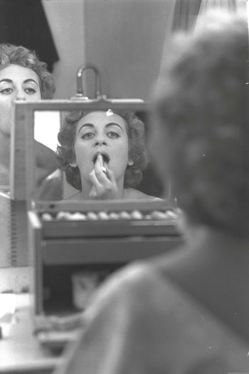 Actress Hanna Maron at the the Cameri Theater in Tel Aviv, in 1957.