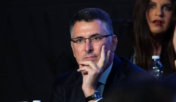 Gideon Sa'ar in a Likud party convention in Tel Aviv, November 17, 2019