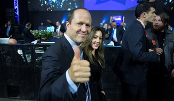 Nir Barkat at the Likud event on the first Election Night of the year in April 2019.