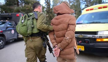 Arrest of Abed al-Hakim Asi in Nablus, West Bank, March 18, 2018