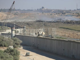Border fence between Israel and the Gaza Strip