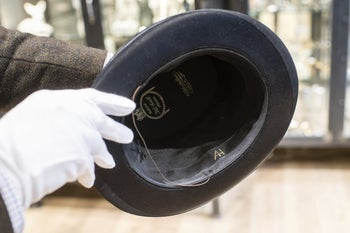 The Hitler top hat auctioned off at Grasbrunn near Munich, Germany, November 20, 2019.