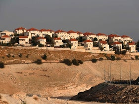 The Israeli settlement of Maale Adumim in the occupied West Bank on the outskirts of Jerusalem on November 26, 2019.