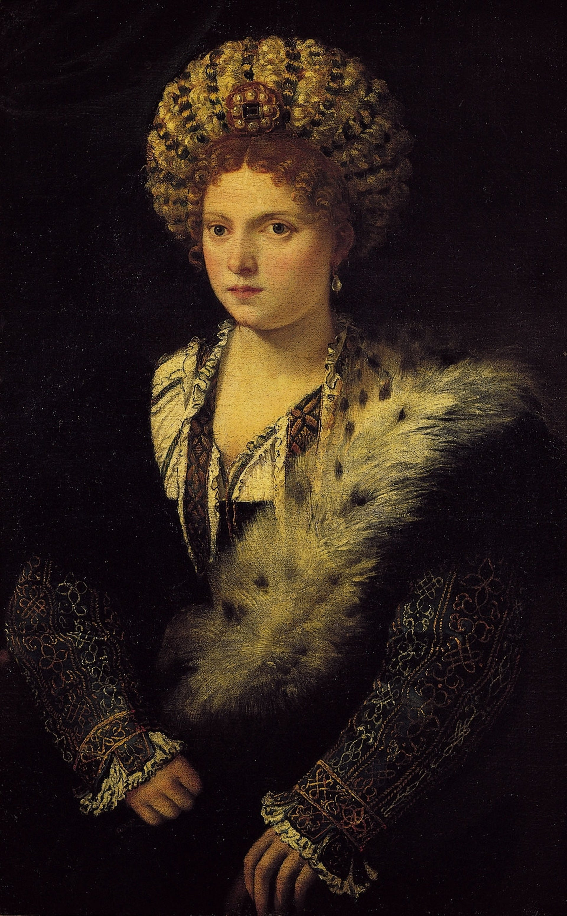 Portrait of Isabella d'Este by Titian.