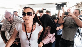 The British woman arrives in court in Paralimni, Cyprus, July 29, 2019.