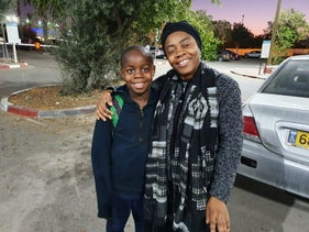 Christina and and her son Favour Blessing released from custody, December 1, 2019.