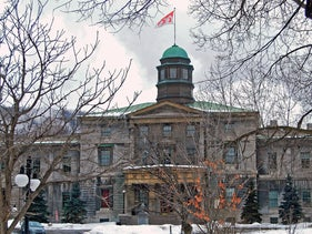 The McGill University in Montreal.