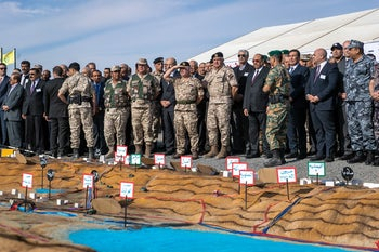 Jordanian military forces during a drill in November 2019.