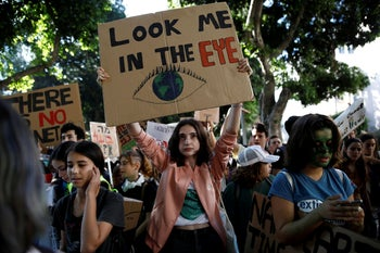 """Fridays for Future"" global strike against climate change, Tel Aviv, Israel, November 29, 2019"