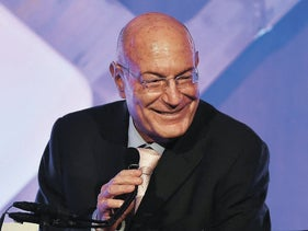 Israeli producer Arnon Milchan accepts an award at the Gotham Independent Film Awards, New York, November 28, 2016.
