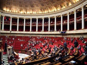 France's lower house of parliament, the Assemblee Nationale, in session, October 7, 2019