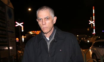 Yedioth Ahronoth owner Arnon Mozes after being questioned by the Israel Police in 2017.